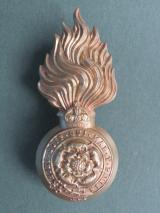 British Army The Royal Fusiliers (City of London Regiment) Edwardian Period Fur Cap Grenade Badge