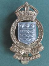 British Army Royal Army Ordnance Corps 1947-1953 King's Crown Cap Badge