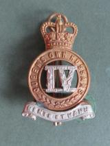 British Army 4th Queen's Own Hussars Collar Badge