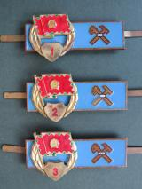 Hungary Pre 1991 Army Mechanic (FV) Badges 1st, 2nd & 3rd Classes